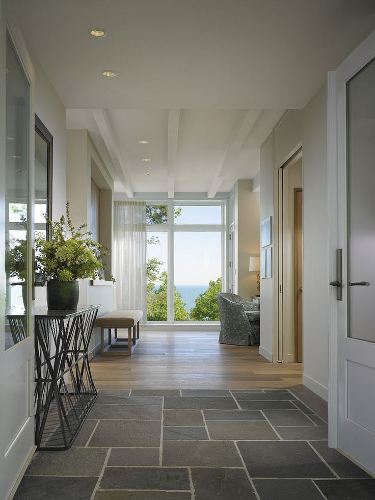 Love the contrast flooring. Stone entranceway means cleaner and less need for ugly welcpome mats