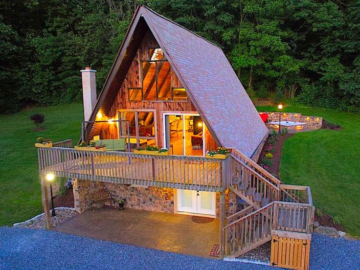 Fantastic A-Frame Cabin for a Couples' Getaway near ...