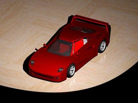 Model závodního auta Ferrari F40 Autor: Vlach Jonáš Použitý SW: AutoCAD 2013 (3D dokumentace)