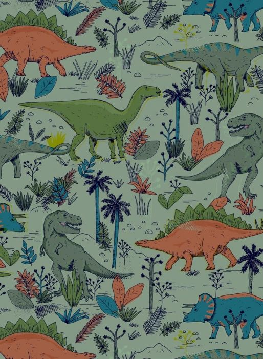 Dinosaur Pattern by See Creatures  copyright 2015 See Creatures Design