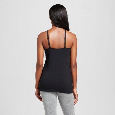 Women's Nursing Henley Cami Black, Size: Medium