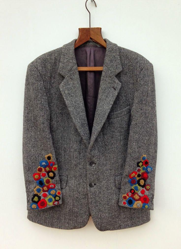 didyoumakeityourself: Embroidered Harris Tweed