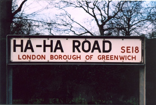 "I want to hear Nelson from The Simpsons say ""Ha Ha"" while driving on  Ha-Ha Road in London, England!"