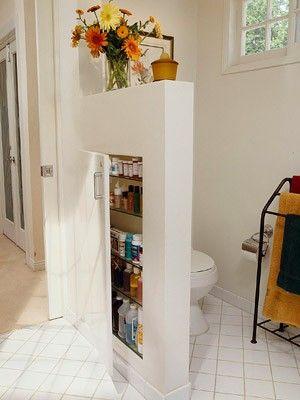 Handig ruimte besparen in de badkamer!