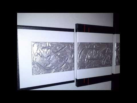 Acrylmalerei. Abstrakte große mehrteilige Bilder.Acryl auf Leinwand schwarz weiß. - YouTube