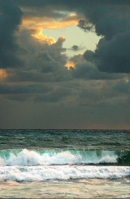 Jupiter Beach, Florida  At Sunrise