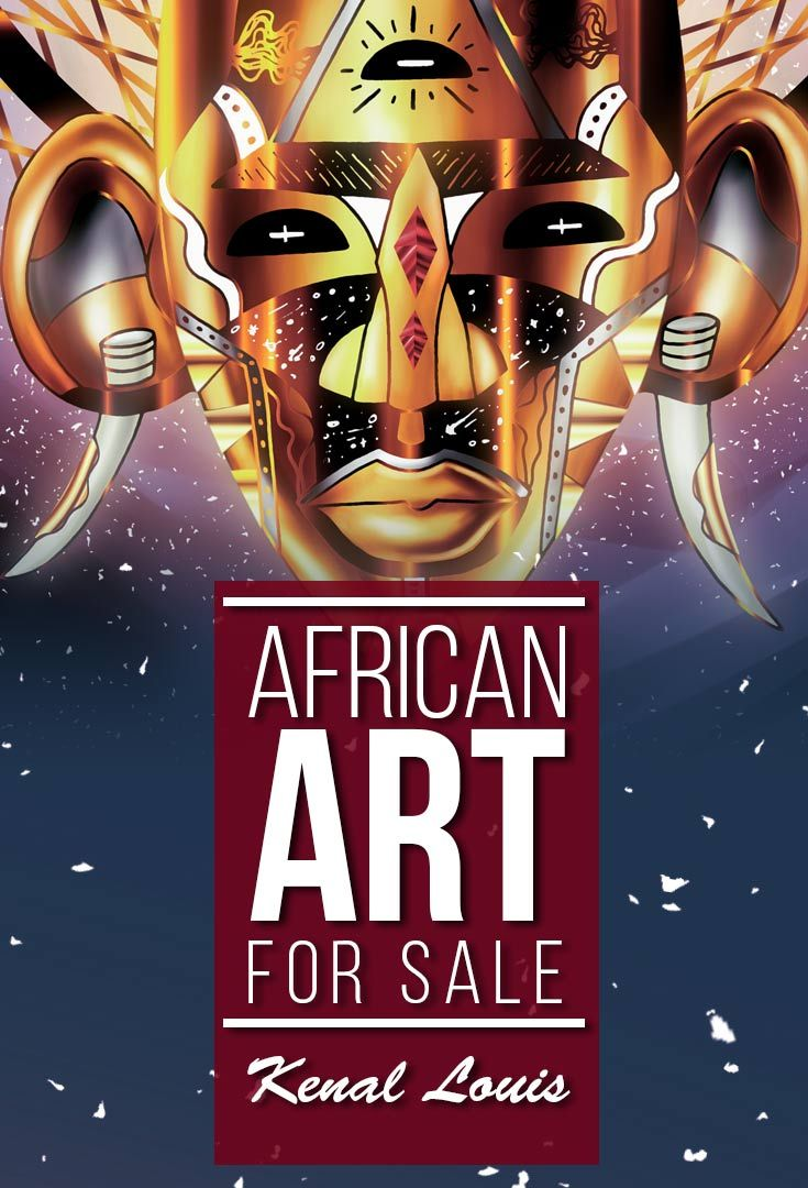 Love African culture? Take a look at these beautiful African artworks by visual artist Kenal Louis. Inspired by African tribal mask art. The African art pieces are available for sale.