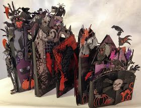 Hi everyone :-)   Here is the Halloween mini album I made for the configuration box.   Used different Halloween papers from recollections t...