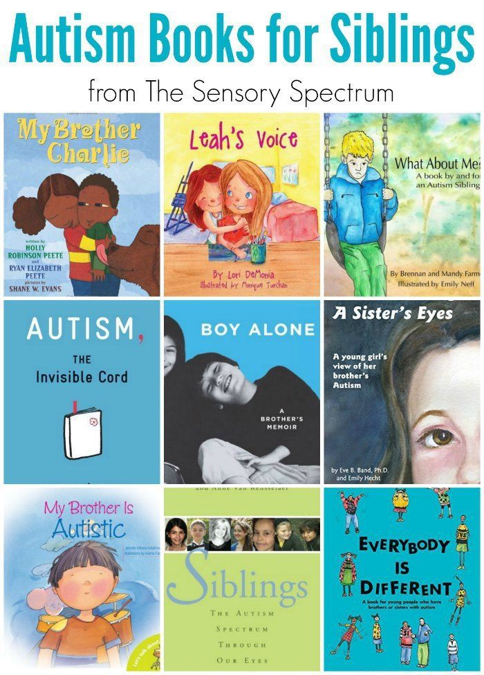 Autism Books for Siblings - Great reads for children who have a brother or sister on the Autism Spectrum (ASD) | The Sensory Spectrum