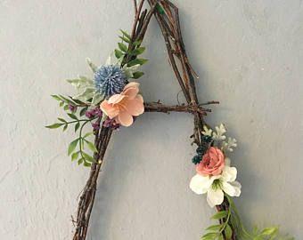 Woodland Nursery Letter Twig Letter Twig Monogram Rustic