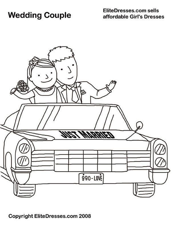 Read Morejust Married Car Coloring Books Wedding Coloring Pages