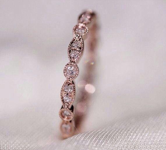 vintage gold rose wedding ring