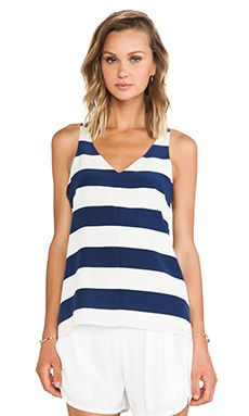 Tibi Stripe Silk Tank In Caspian Blue Multi WAS $221.59 NOW $155.56 http://www.richgurl.com/linkout/2080433