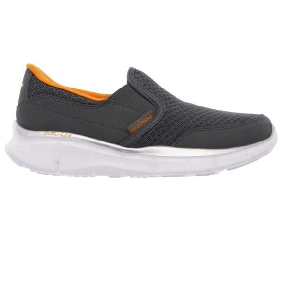 NEW! BOY'S Skechers Equalizer slip on shoes Boy's equalizer Skechers slip on shoes. I bought these for my son and they're too big. Brand new with original box. Skechers Shoes Slippers