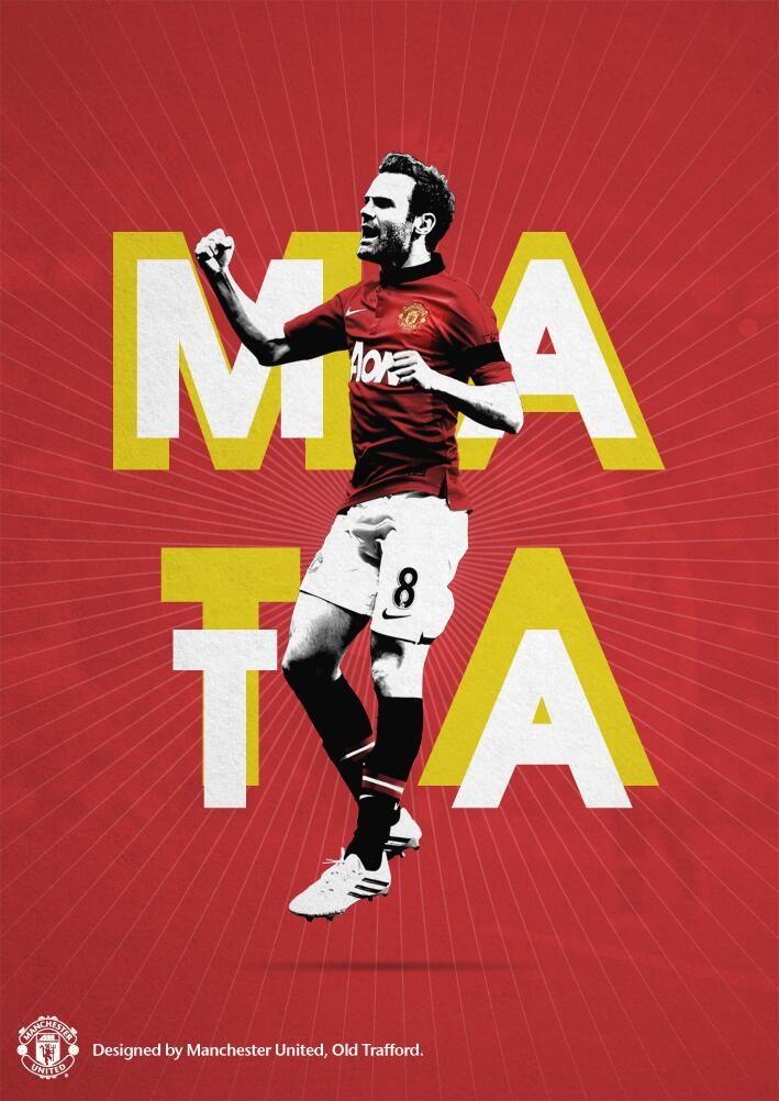 Juan Mata poster, designed by @manutd.