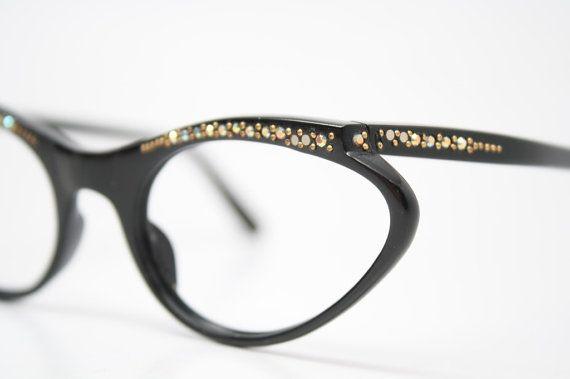 Piccoli strass Cat Eye Occhiali occhiali di VintageOpticalShop