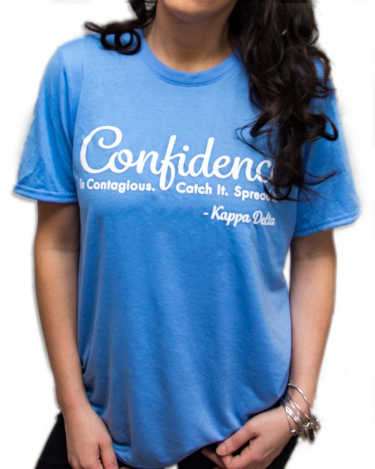 Kappa Delta Shirts, Promoting Confidence in Women & Girls via Kappa Delta's Confidence Coalition. Spread Confidence. by SororityShell on Etsy