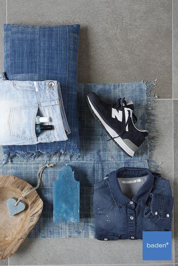 Op zoek naar leuke accessoires voor uw badkamer? #Jeansblauw #kussen #zeep #plaid