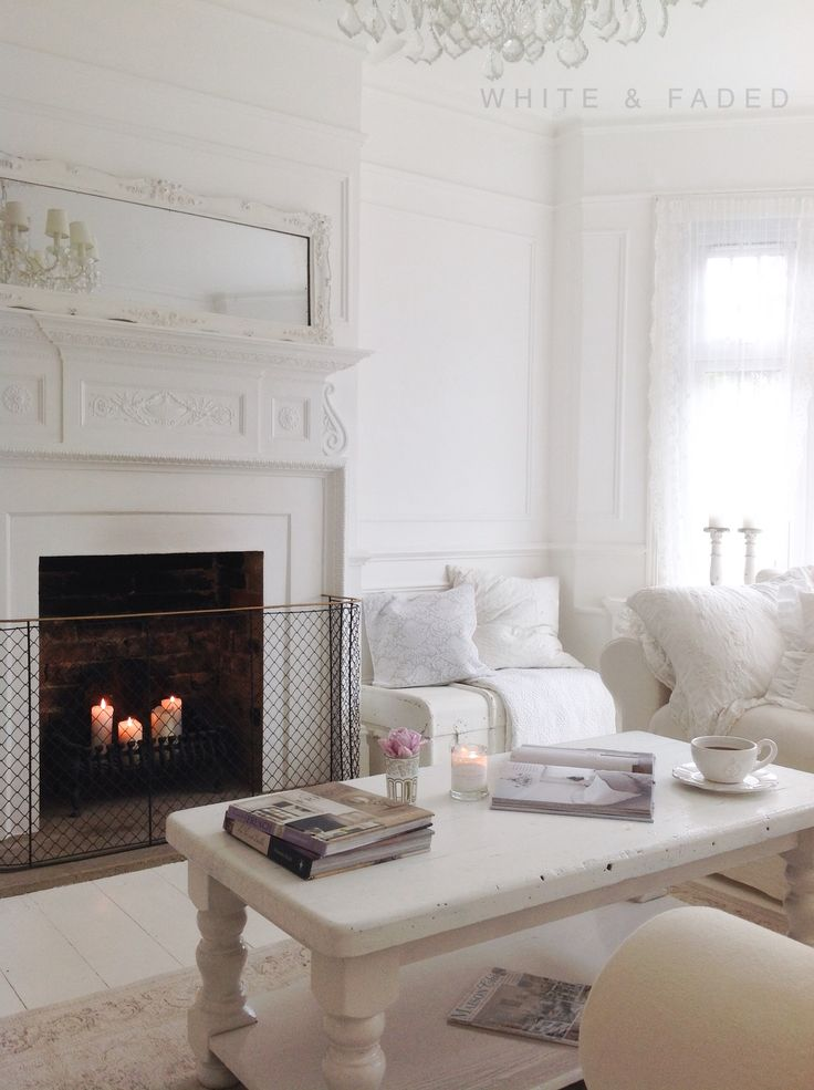 French white romantic living