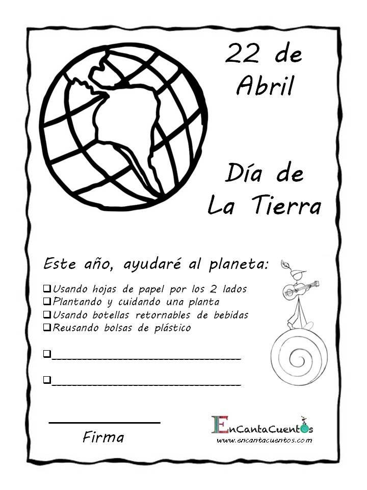 ¡Llegó el Día de la Tierra!  ¿A qué se comprometen los niños para ayudar a nuestro planeta?  #DiadelaTierra