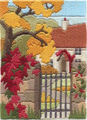 Autumn Garden Longstitch Kit from Derwentwater Designs
