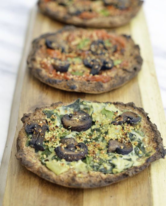 gluten free low carb no rise pizza dough | potluck at ohmyveggies.com