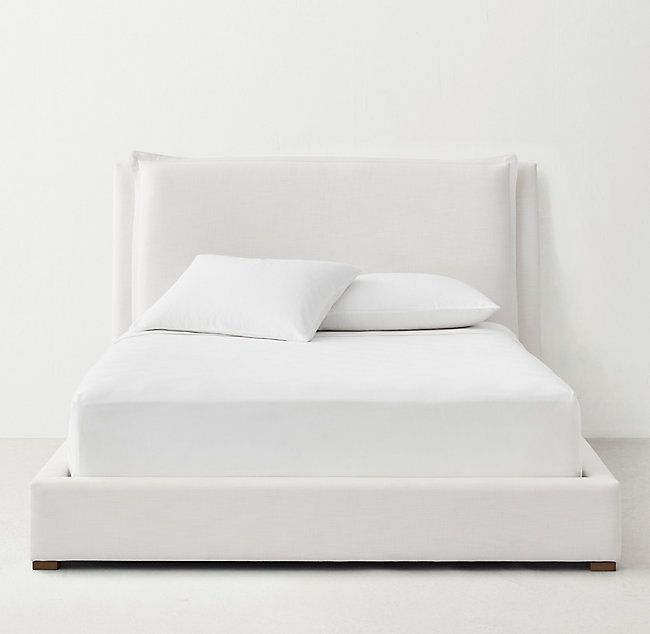 Sloane Upholstered Bed Upholstered Beds White Upholstered Bed