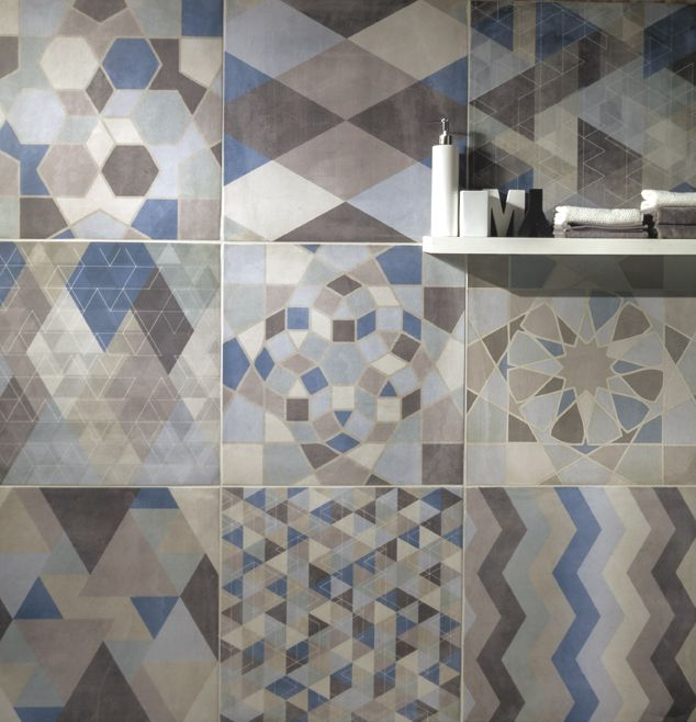 The #vintage mood of One collection is able to enrich any space with its original appeal. Mix Deco 30x30 by Ceramiche Caesar. #design #interiors #decors #tile