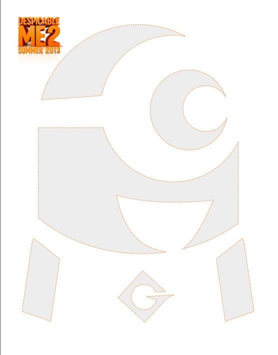 Despicable Me pumpkin carving template - download now