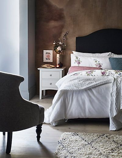 Hastings Ivory Bedside Chest | M&S