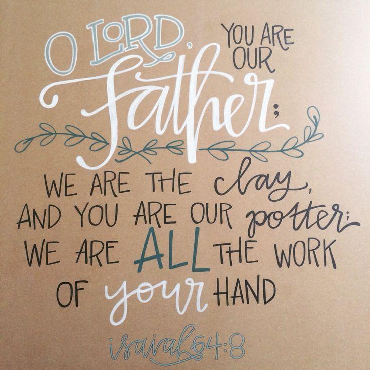 Isaiah 64:8 word art on wood by laurenish design
