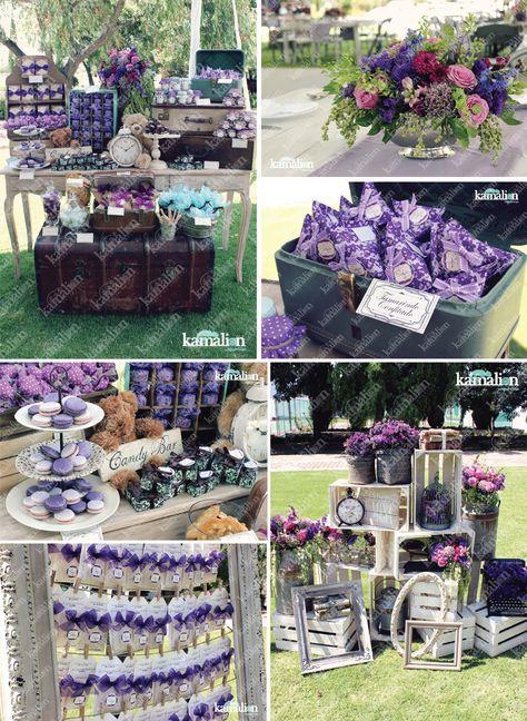 www.kamalion.com.mx - Boda / Wedding / Bautizo / Rustic / Vintage / Morado / Purple / Decoración / Decor / Candy Bar / Centros de Mesa / Centerpiece / Busca tu Mesa / Placing Cards.