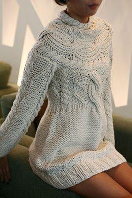 vestido tricot. Love this!!