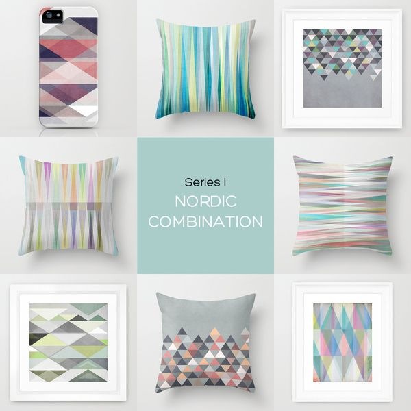 """""""Nordic Combination"""" Series - Scandinavian graphics on prints, iPhone cases and pillows"""