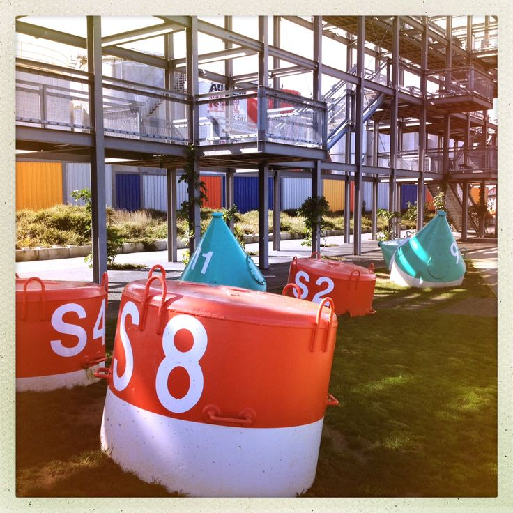 Some #StreetArt at Wynyard Quarter that I saw on my 5.5km #MapMyRun today. These buoys are everywhere down there and I like the reminder that I'm running on reclaimed land.