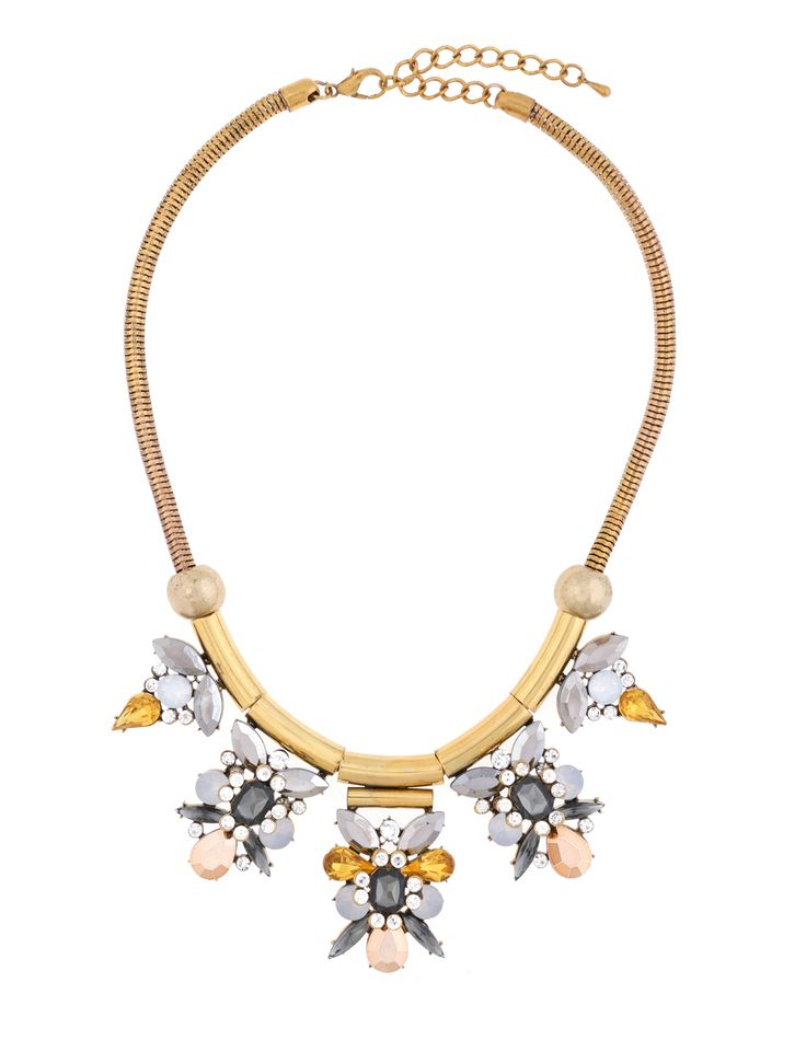 Snake Chain Cluster Necklace | Women's Plus Size Jewelry | ELOQUII