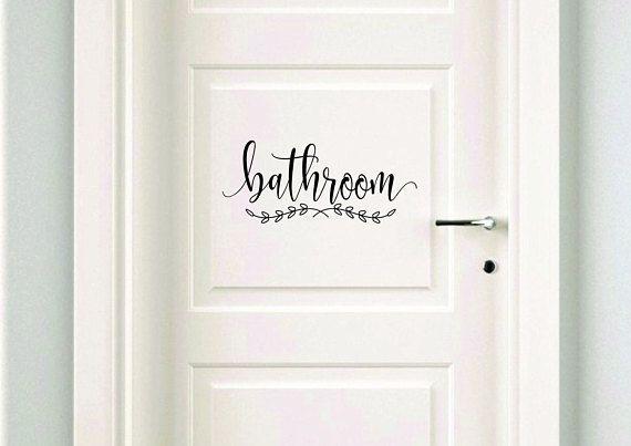 Bathroom Decal Make Your Own Sign Door, Bathroom Door Decals