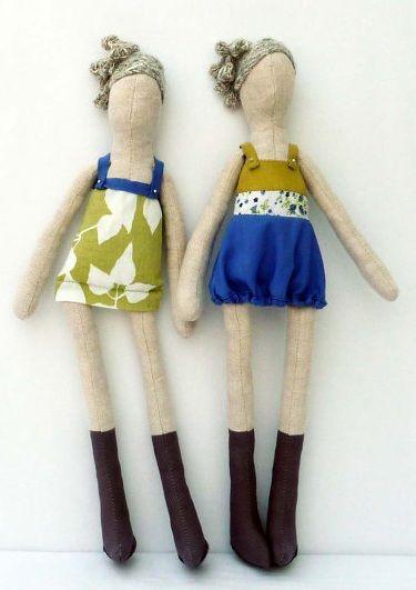 Bonecas de pano fashion