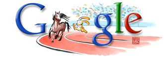 Google Logo - Summer Olympic Games Doodle, Beijing - August, 2008