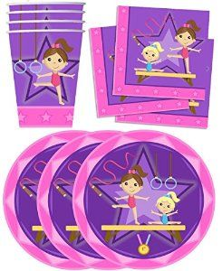 Cute Gymnastics Party supplies