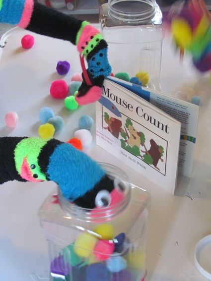"""Count a Mouse. Adorable follow up to """"Mouse Count"""" that works on kids' fine motor skills too. {Teach Preschool}"""