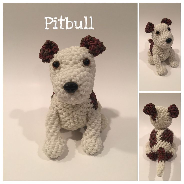 Pitfall Rubber Band Figure, Rainbow Loom Loomigurumi, Rainbow Loom Dog by BBLNCreations on Etsy Loomigurumi Amigurumi Rainbow Loom