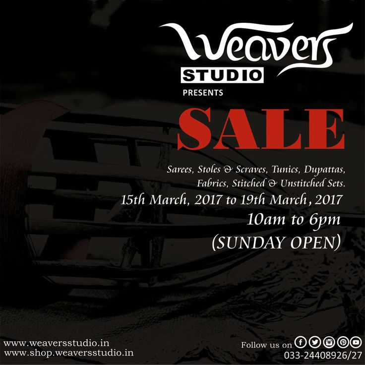 It's Here!  The much awaited #WeaversStudio SALE is here. Grab the pieces before they are gone! #DarshanShah #hancraftedtextiles #luxurytextilesanddesign #Stole #Dupattas #Sarees #Fabrics