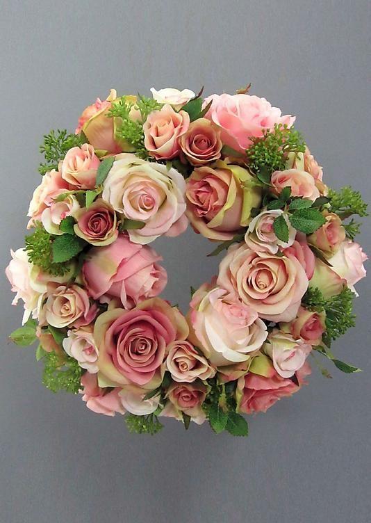 Kunstblume Rosenkranz rosa - atelier goldner schnitt