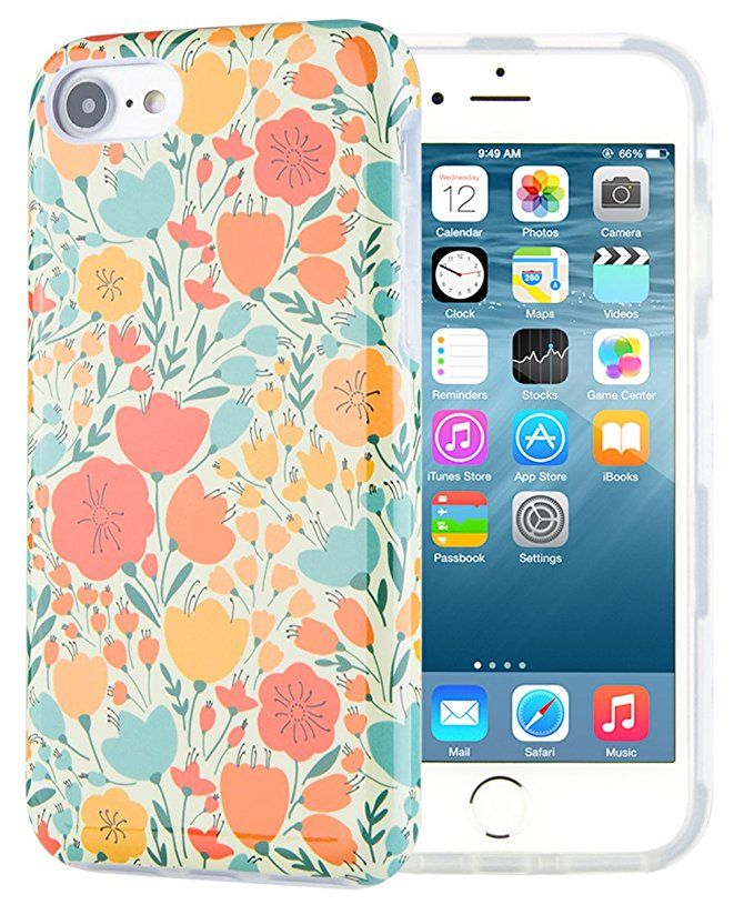 Amazon Com Dimaka Case For Iphone 7 Case Iphone 8 Case Floral Flower Cute Case Dual Layer Covers For Girls Iphone 8 Cases Iphone 7 Cases Iphone Cases Cute