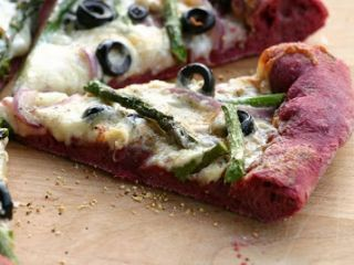 Purple Pizza with Asparagus & Fontina