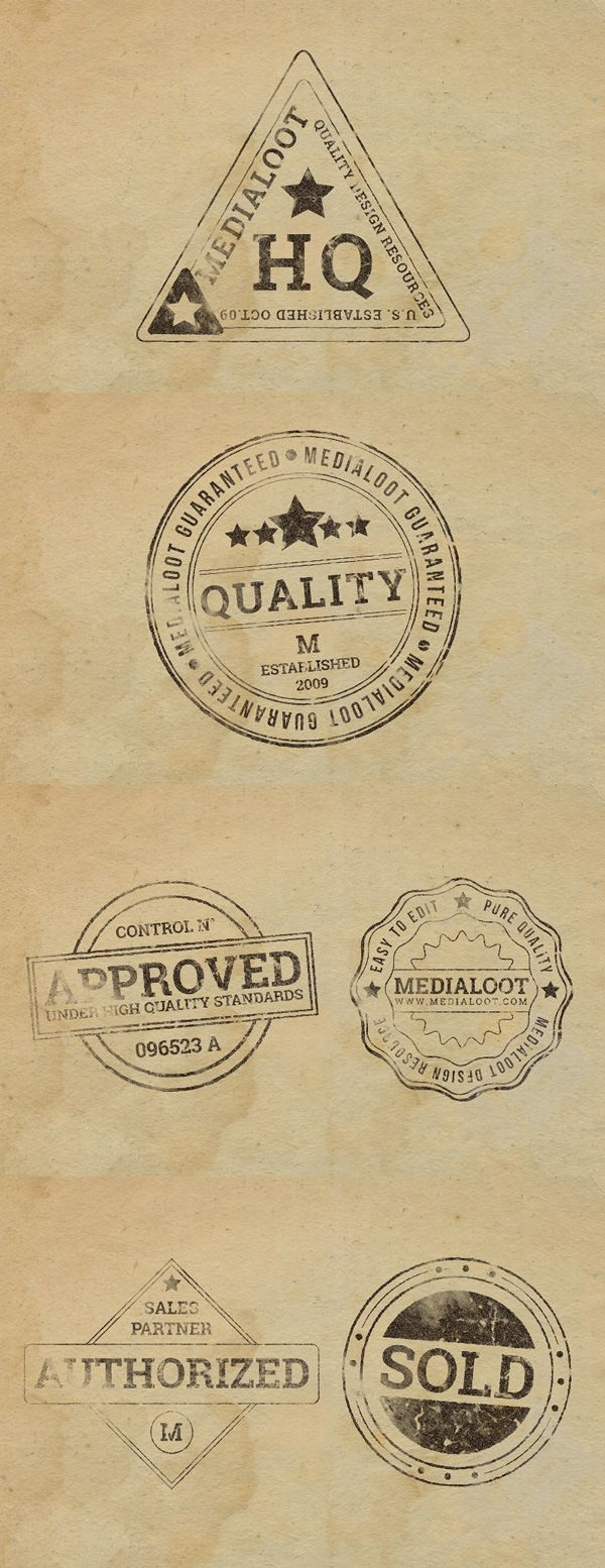 Free 6 Rubber Stamp Effects