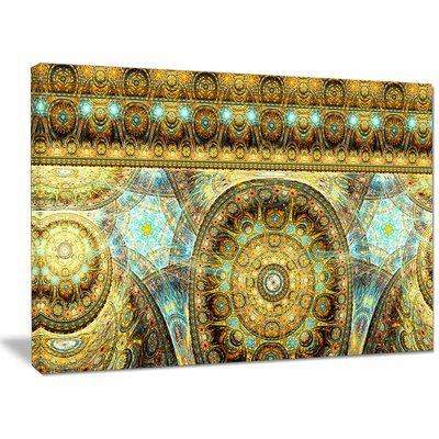 """DesignArt 'Brown Extraterrestrial Life Cells' Graphic Art on Wrapped Canvas Size: 30"""" H x 40"""" W x 1"""" D"""