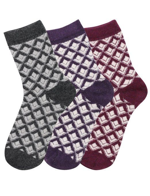 Thanth Womens 3 Pair Set Wool Socks SET44 Freesize at Amazon Women's Clothing store: