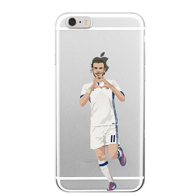 Famous Karim Benzema Cristiano Ronaldo Soccer Sports Stars Soft Clear Phone Case For iphone7 SE 5 5s 6sPlus Transparent Back Cover -iHomegifts